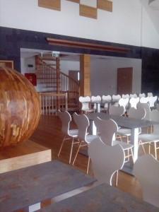 Interiér restaurace Bystřice